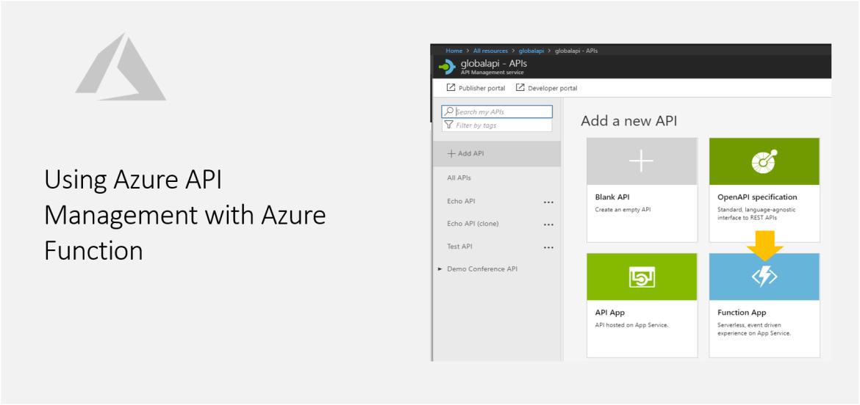 Using Azure API Management with Azure Function