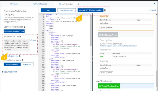 Using Azure API Management with Azure Function - OpenAPI