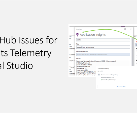 Create GitHub Issues for App Insights Telemetry from Visual Studio