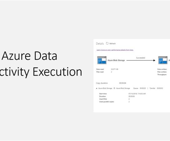 Exploring Azure Data Factory Activity Execution Details