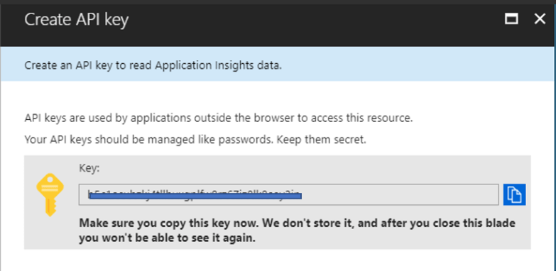 Query Application Insights Telemetry Data using REST API - Get Keys