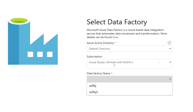 Select Data Factory