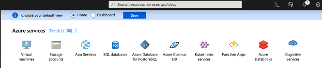 Choose your default view in Azure Portal - Inital View
