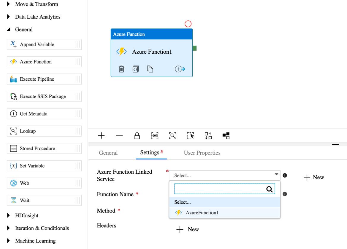 Invoke Azure Functions from Azure Data Factory Pipeline