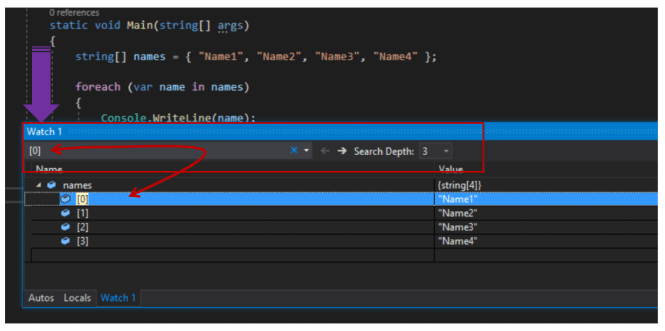 Search in Locals, Autos and Watch Windows - Visual Studio