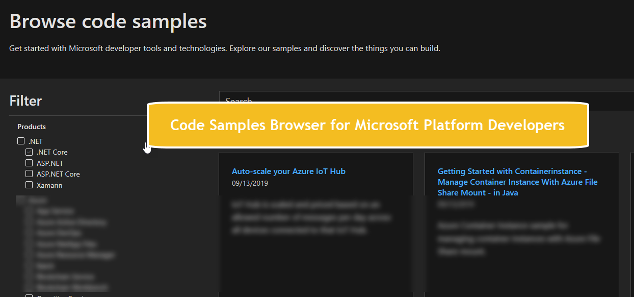 Code Samples Browser for Microsoft Platform Developers - Daily .NET Tips