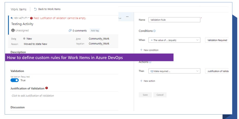 How to define custom rules for Work Items in Azure DevOps