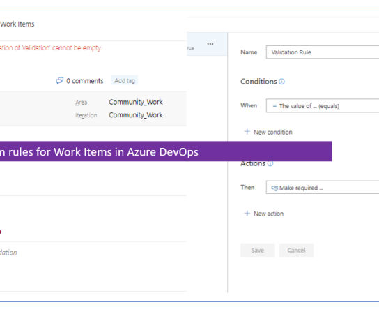 How to define custom rules for Work Items in Azure DevOps