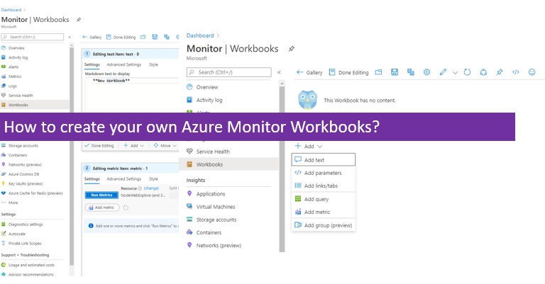 How to create your own Azure Monitor Workbooks?