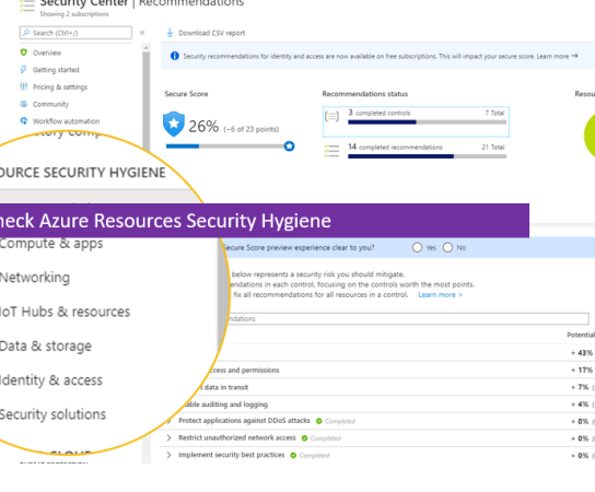 Quickly Check Azure Resources Security Hygiene