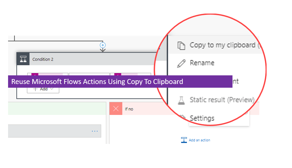 Reuse Microsoft Flows Actions Using Copy To Clipboard