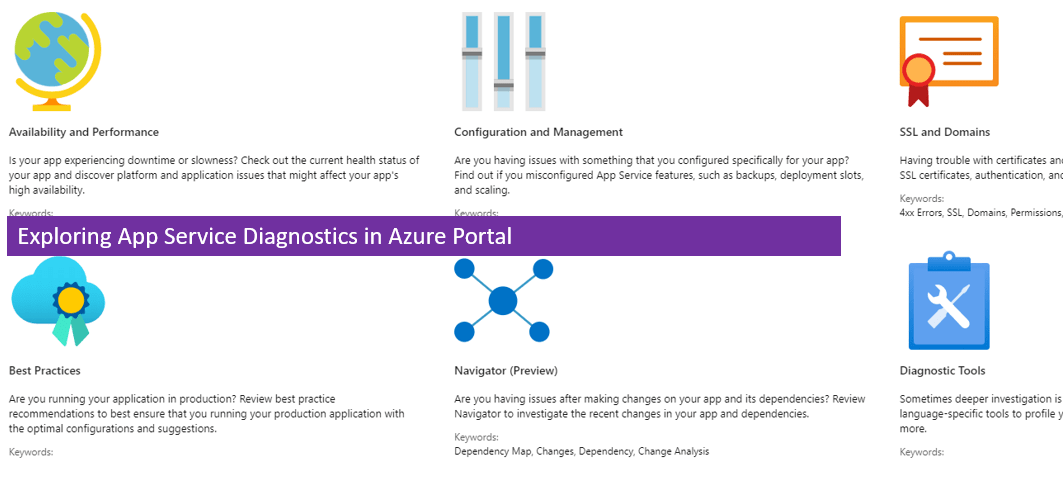 Exploring App Service Diagnostics in Azure Portal