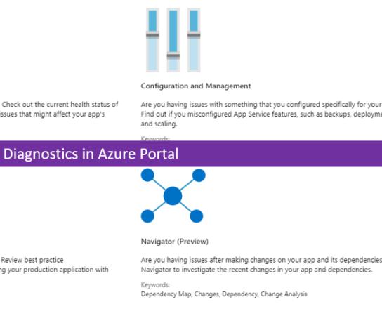 Exploring App Service Diagnostics in Azure Portal
