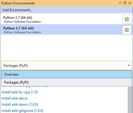 Environment Settings for Visual Studio Python Interactive Window