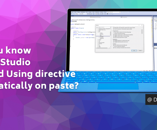 Did you know – Visual Studio can add Using directive automatically on paste?
