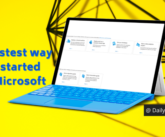 The fastest way to get started with Microsoft Azure