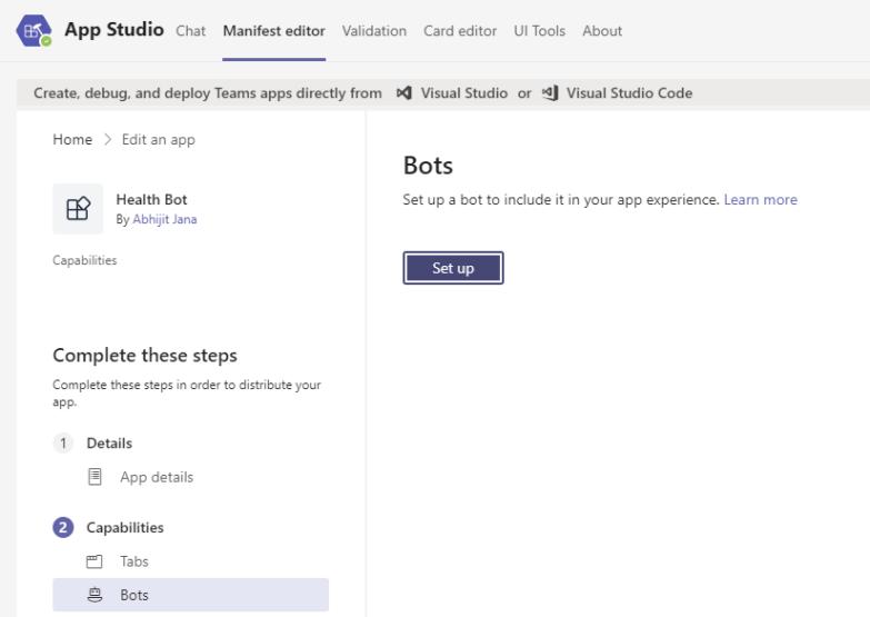 Configure the Chat bot in App Studio