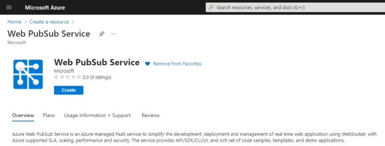 Web PubSub Service