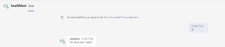 Microsoft Health Chat Bot Conversation