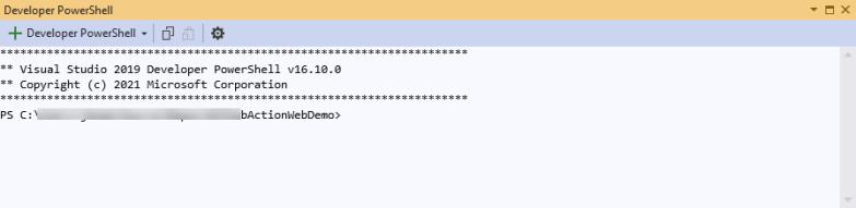 Visual Studio Developer Command Prompt