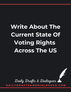 Write About The Current State Of Voting Rights Across The US_Blog