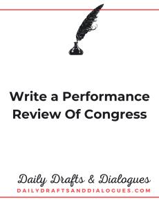 Write a Performance Review Of Congress_Blog
