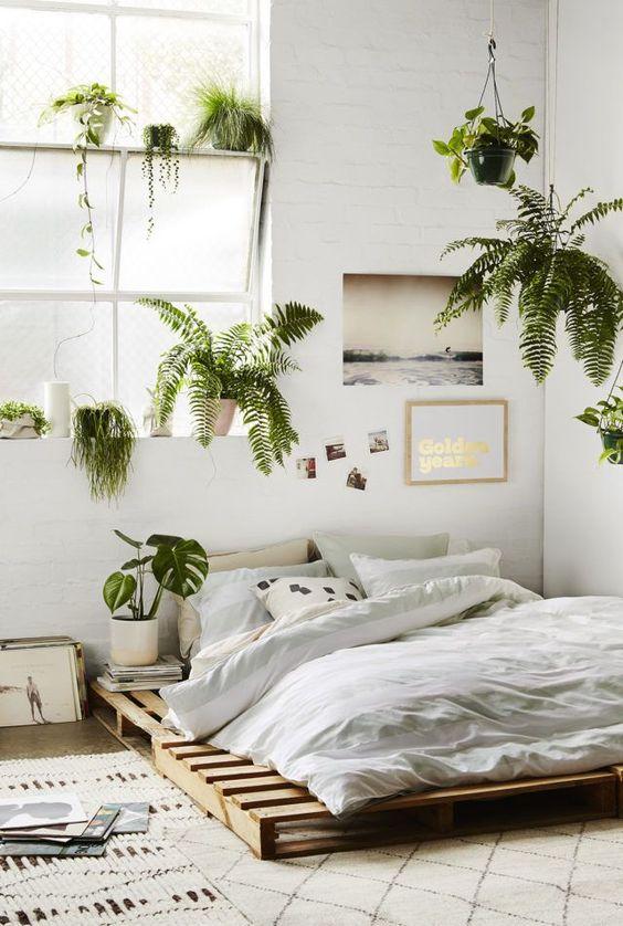 Green Bedroom With Plants Novocom Top