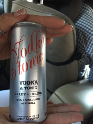 Vodka tonic in a can!