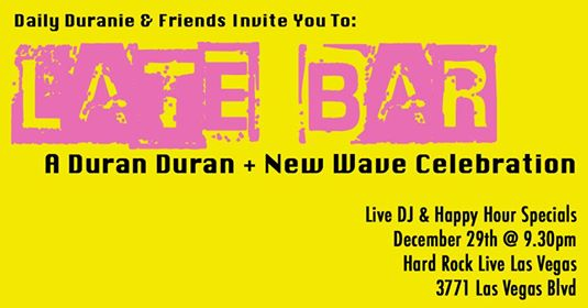 Late Bar: The Daily Duranie Holiday Office Party!