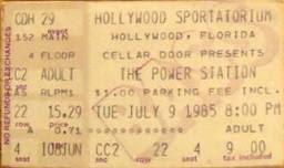 Jason's Power Station ticket from 1985!