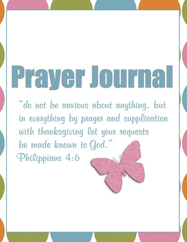 Prayer journal printables for Prayer book template