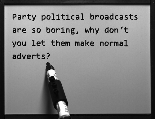 party political broadcasts are so boring