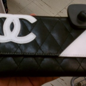 Black and White Chanel Clutch