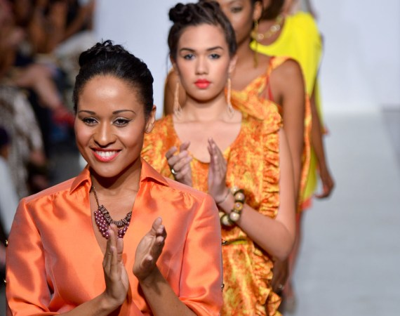 Nayeli Fanfan and Lydia Ramos during Bien Abye by Dayanne Danier at Funkshion Fashion Week 2012