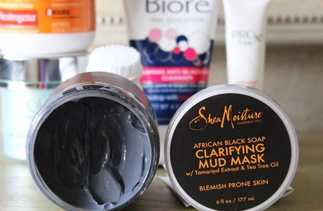 Post-Holiday Skin Regime, Drug store beauty regime, drug store beauty products, how to take care of skin after the holidays, SheaMoisture's African Black Soap Clarifying Mud Mask