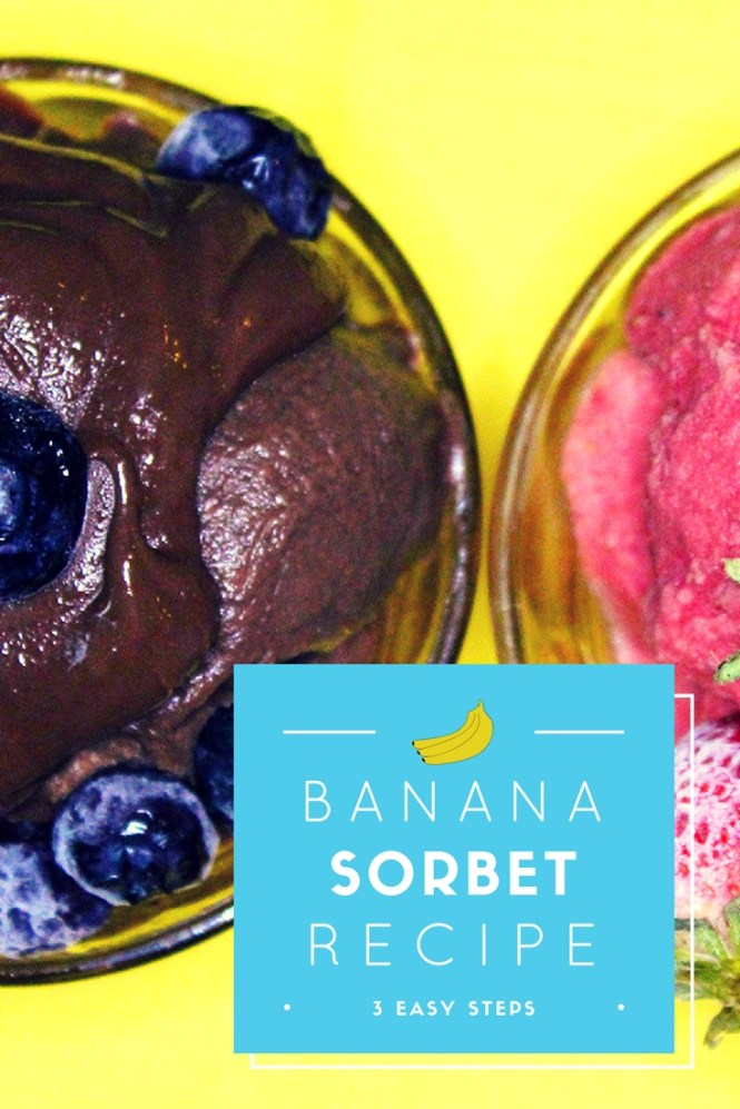 banana sorbet pinterest, banana sorbet, how to make banana sorbet