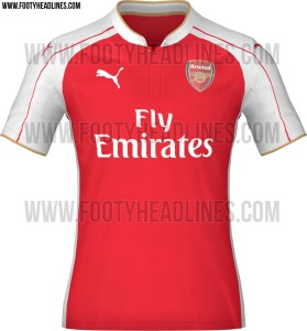 Arsenal kit is one of the Top 10 Best Kits for the 2015-16 season