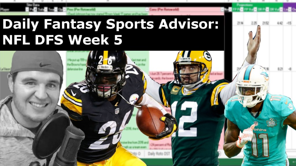 Daily Fantasy Sports Advisor NFL DFS Week 5 2017