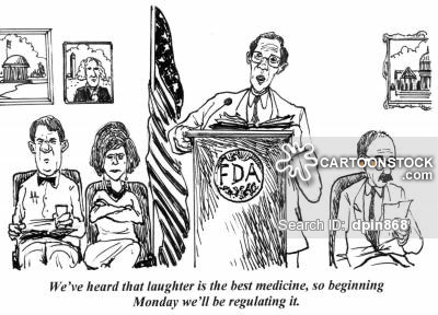 'We heard that laughter is the best medicine, so beginning Monday we'll be regulating it.'