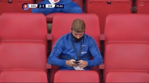 Timo Werner caught texting in the stands in new club Chelsea's FA Cup Final defeat