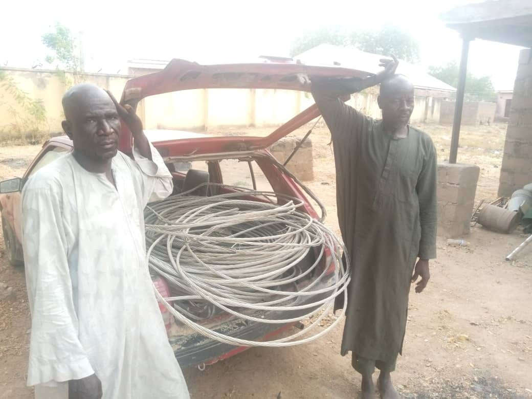 Two electricity staff arrested for vandalizing and and stealing power cables  in Adamawa - Daily Focus Nigeria