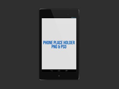 Phone Place Holder PNG & PSD