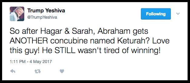 Trump Yeshiva tweets the story of Abraham