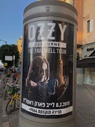 Ozzy in Israel with the Daily Freier