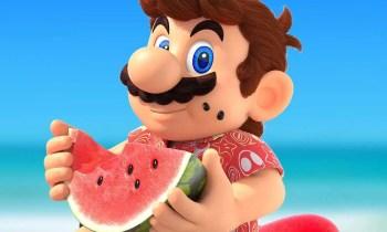 Super Mario ißt Wassermelone - (C) Nintendo