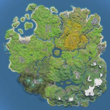 Minimap zu Fortnite Kapitel 2