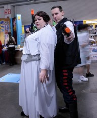 A formidable duo: Han and Leia of Star Wars