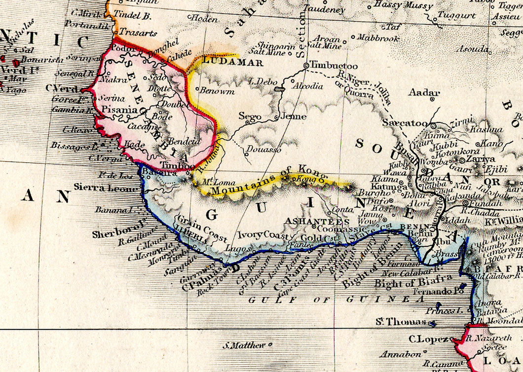 Map African 1747