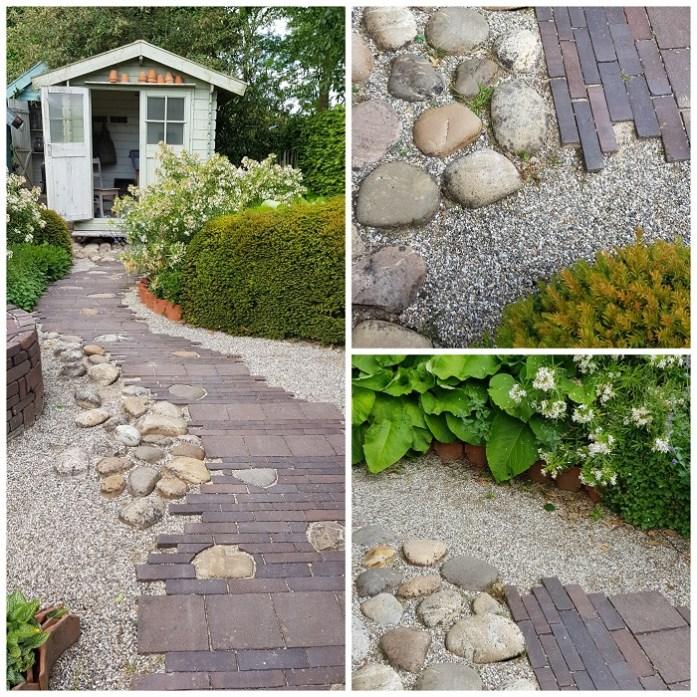 terrassen en paden - een mix