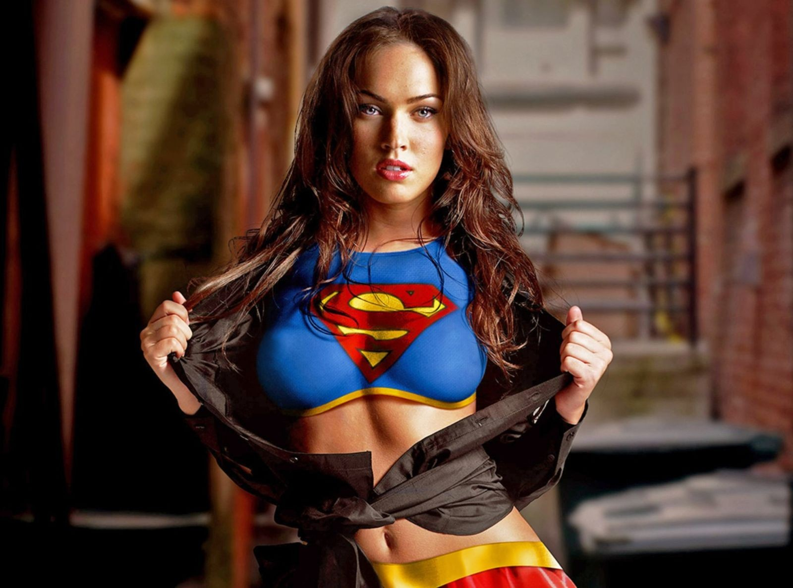 High Definition 3d Wallpaper Free Download Megan Fox Supergirl Original 1080p Wallpaper Desktop Hd